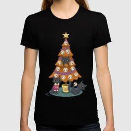 Meowy christmas sugar skulls T-shirt