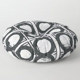 Beyond Zero in black and white Floor Pillow