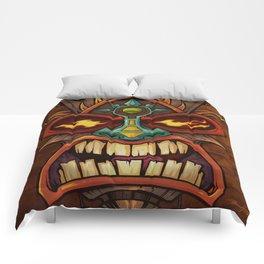 Tiki Head Style 3 Comforters