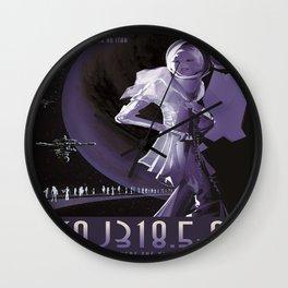 PSO J318.5-22 : NASA Retro Solar System Travel Poster Wall Clock