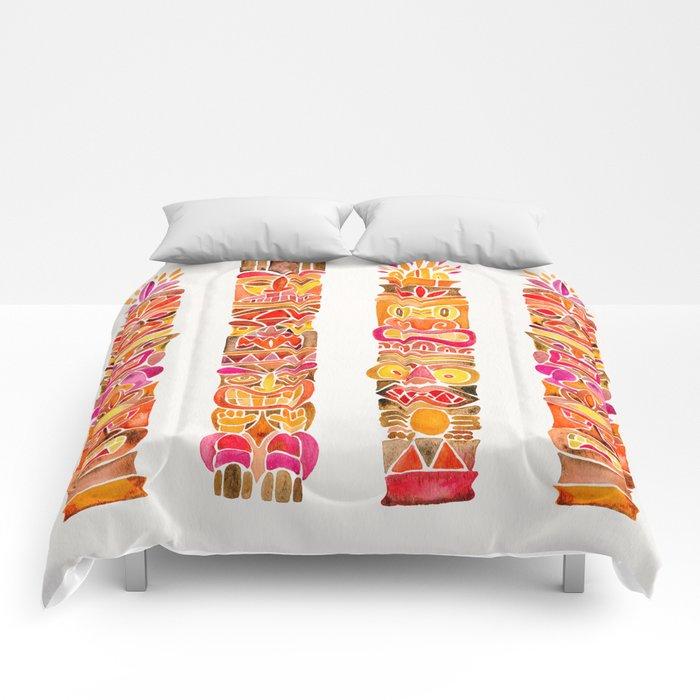 Tiki Totems – Fiery Palette Comforters