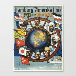 poster Zwei Reisen um die Welt Canvas Print
