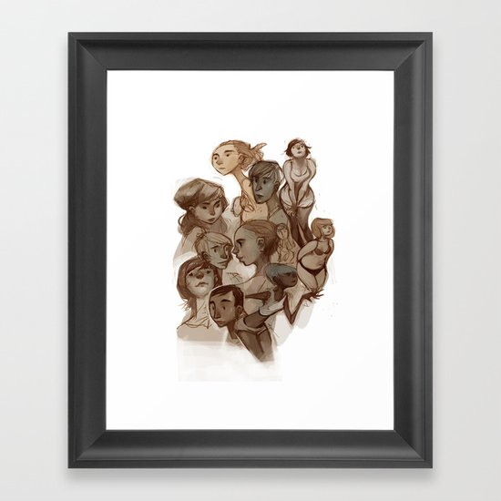 sketches 01 Framed Art Print