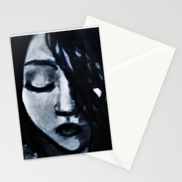 Monochrome (black and white portrait) Stationery Cards
