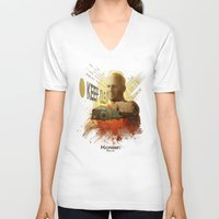 dallas V-neck T-shirts featuring Korben Dallas by Digital Theory