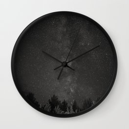 The Milky Way Above Oregon - B+W Wall Clock