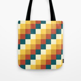 My Honey Pot - Pixel Pattern in yellow tint colors Tote Bag