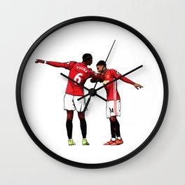 Pogba and Lingard celebrats Wall Clock