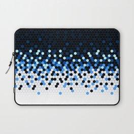 Flat Tech Camouflage Reverse Blue Laptop Sleeve