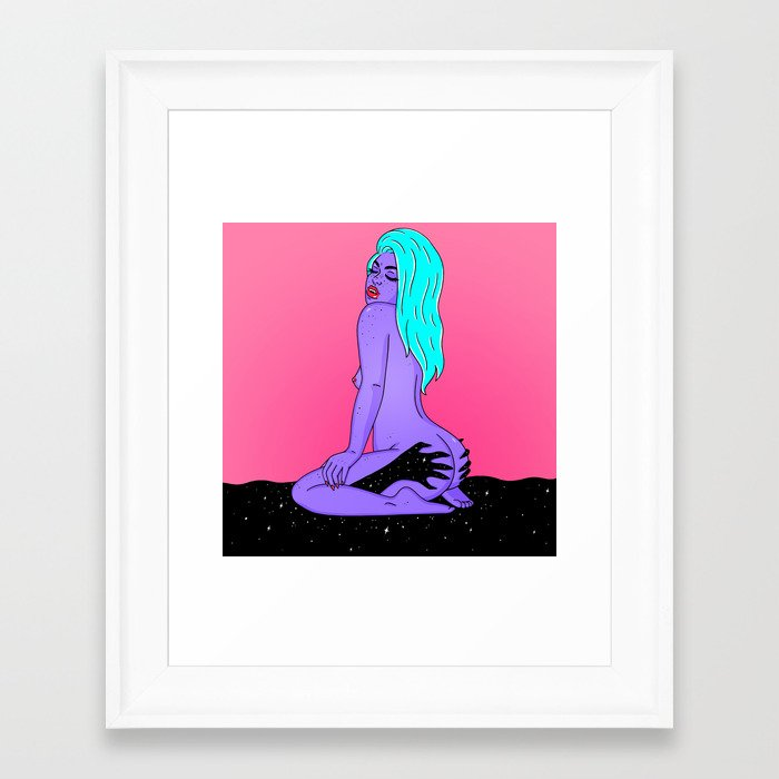 GIVE ME SPACE Framed Art Print