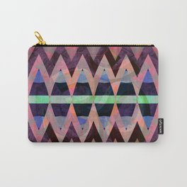 Bold Iridescent Pearlescent Zag Geometric Carry-All Pouch