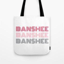 Banshee x3 - Red/Pink/Gray Tote Bag