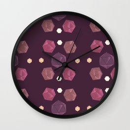 Red and Purple DnD Dice Wall Clock