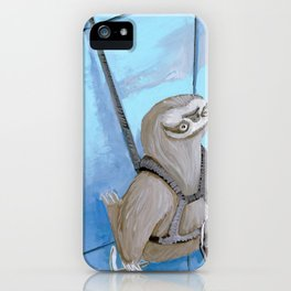 Sloths Are Bad At Things- Xander the Window Washer!  iPhone Case