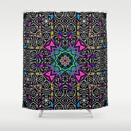 Invaders Pattern No.1 Shower Curtain