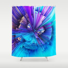 Interference - Abstract Art Shower Curtain
