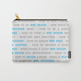 Blue Web Design Keywords Poster Concept Carry-All Pouch