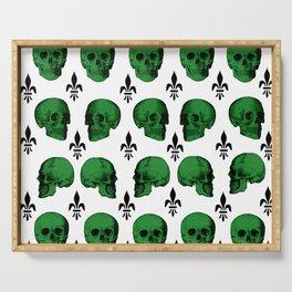 Green Skulls Serving Tray