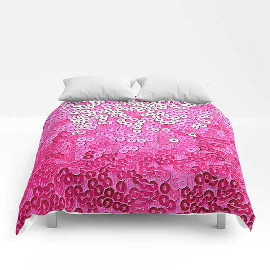 Party Pink Sequins  Comforters