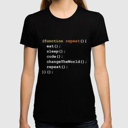 Eat code sleep repeat T-shirt