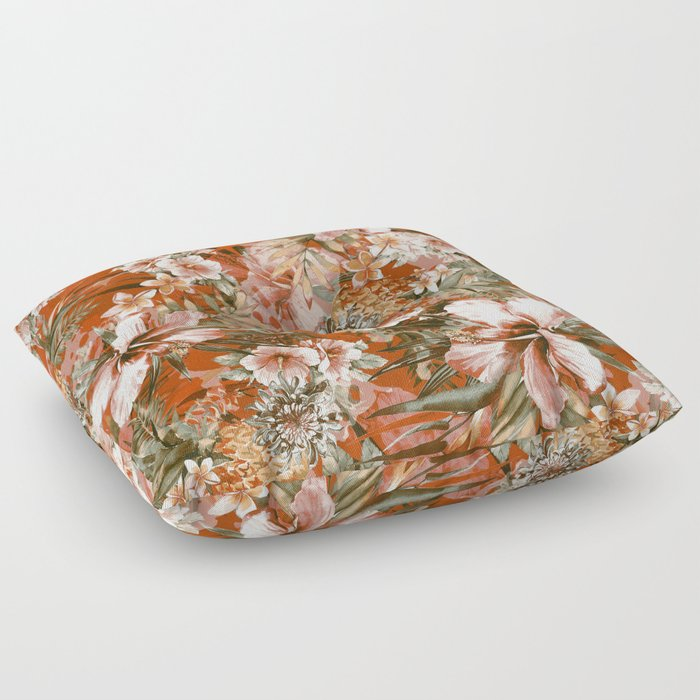 Tropical Orange Floor Pillow by rizapeker | Society6