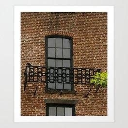 Savannah Warehouse Window Art Print