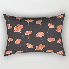 Ginkgo Biloba Leaves Pattern Dark #society6 #decor #buyart Rectangular Pillow