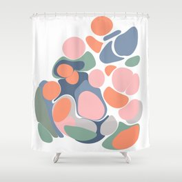 Abstract Shape Flower Art Shower Curtain
