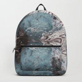 Worldly - Gothic Inkblot Art in Blue Backpack