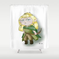 chibi Shower Curtains featuring Chibi Legolas by Miss No!