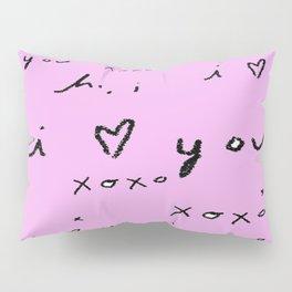 i luv you pink Pillow Sham