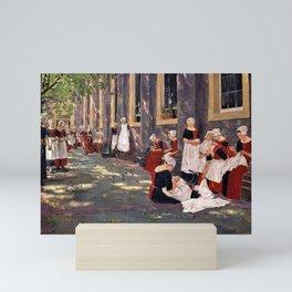 12,000pixel-500dpi - Max Liebermann - Free Period in the Amsterdam Orphanage Mini Art Print