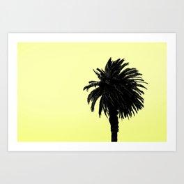 Single Palm - Lemon Art Print