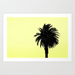 Single Palm - Lemon Art Print