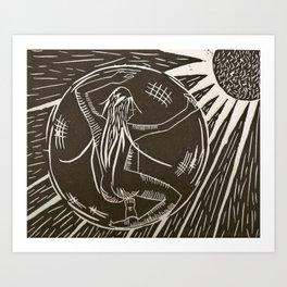 Space inside Space Art Print