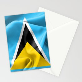 Saint Lucia Flag Stationery Cards