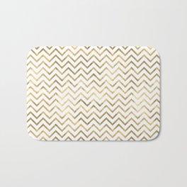 Gold Zig Zag Pattern Bath Mat
