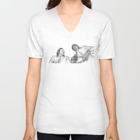 pulp V-neck T-shirts featuring pulp by BzPortraits