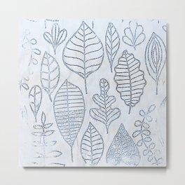 Watercolor Leaves Metal Print