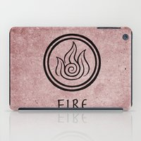 airbender iPad Cases featuring Avatar Last Airbender Elements - Fire by bdubzgear