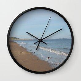 Broughty Ferry beach 4 Wall Clock