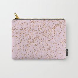 Rose gold diamond confetti Carry-All Pouch