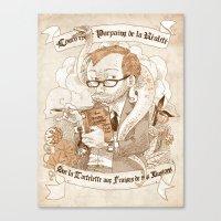 bouletcorp Canvas Prints featuring Autoportrait by Bouletcorp