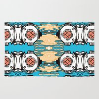 scuba Area & Throw Rugs featuring Scuba Squad by Marc Douglas Weiss