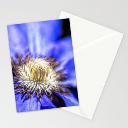 Bold Purple Clematis Stationery Cards