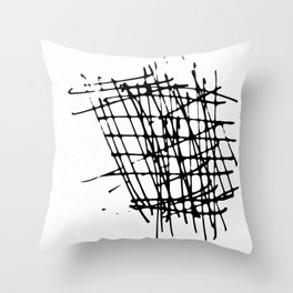 Sketch Black and White Throw Pillow