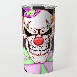 Demented Clown Skull Travel Mug