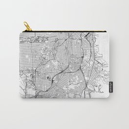 San Francisco White Map Carry-All Pouch