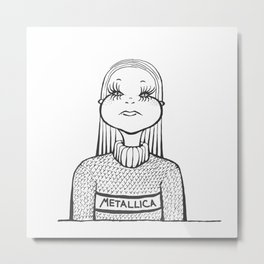 Barbara Mascara Metal Print