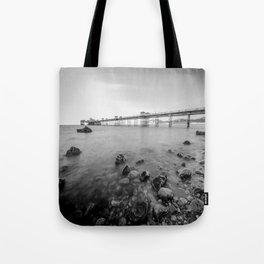 Llandudno Peir Bw Tote Bag
